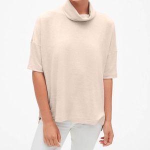 Gap Softspun Anchorage Cowl Neck Knit Top XL Soft